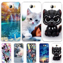 Huawei Y5 II Honor 5A Case Cat Cover Y5II / Y6 Compact Silicone Fundas LYO-L21 Phone Cases
