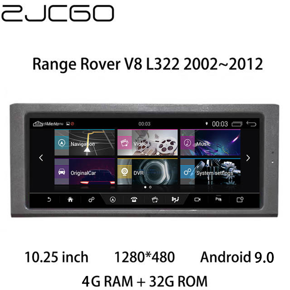 Car Multimedia Player Stereo GPS DVD Radio Navigation Android For Land Rover Range Range Rover V8 L322 2002~2012