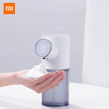 Xiaomi automatyczny dozownik mydła USB akumulator 320ml dozowniki mydła w płynie cyfrowy wyświetlacz pianki do dezynfekcji rąk tanie i dobre opinie NONE CN (pochodzenie)