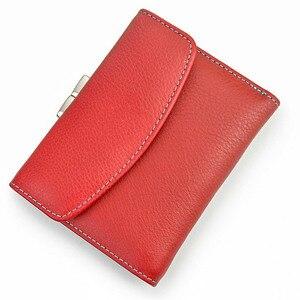 Image 3 - Beth Cat новый короткий женский кошелек из натуральной кожи, Модный женский маленький кошелек, женская сумка для денег, мини держатель для карт, кошельки с монетницей
