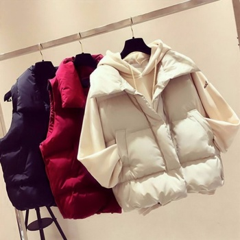 Brieuces new Stand Collar Women Winter Vests 2019 New Short Vest Cotton Padded Jacket Sleeveless Female Hooded Waistcoat Vest pinkyisblack new down cotton vest women winter short waistcoat outerwear sleeveless jacket coat hooded autumn cotton vest female