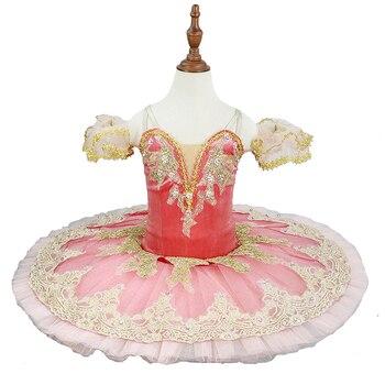 цена на Classical Ballet Tutu Peach Fairy Pink Professional Tutu Performance Pancake Ballet Tutu Costume Girls Platter Tutus Adult JN38