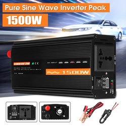 1500 واط نقية شرط لموجة العاكس DC12V/24 فولت/48 فولت إلى AC220V 50 هرتز محول طاقة الداعم للسيارة العاكس المنزلية لتقوم بها بنفسك