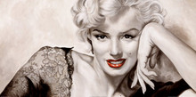 Hand-painted Marilyn Monroe Wall Décor Painting Art  for Living Room Bedroom Office Home decoration