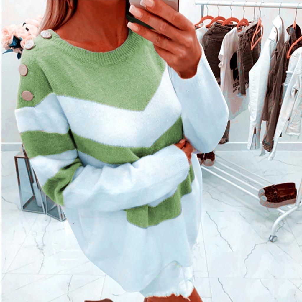 Sweater Women Basic Sweaters For Women Sweaters Women's Ladies Pullover Loose Long Sleeve Sweater Tops Knitwear Blouse Sweater