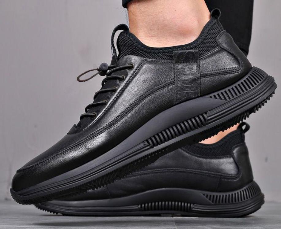 Men Casual Shoes Sneakers Leather Waterproof Sneakers Walking Shoes Mens Comfort Waterproof Shoes