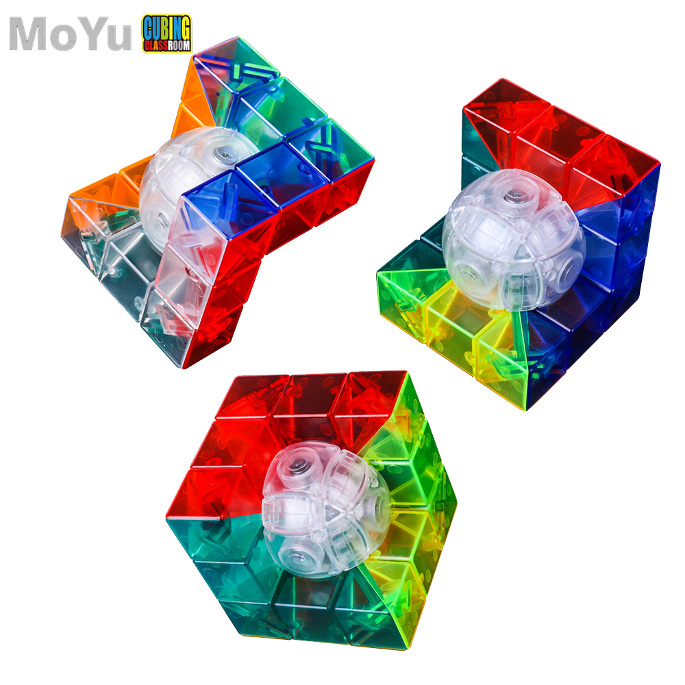 Moyu Transparent 3x3x3 Geometry Cube Strange Shape Cube Speed Puzzle Learning Educational Toys For Children Kids Cubo Magico