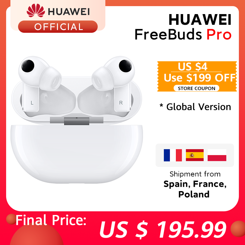 In Stock Global Version HUAWEI Freebuds Pro Smartearphone Qi Wireless Charge ANC Function For Mate 40 Pro P30 Pro Phone Earphones & Headphones  - AliExpress