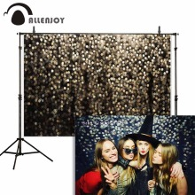 Allenjoy Halloween Background Birthday Glitter Golden Hexagon Bokeh Backdrops Photocall Christmas Party  Curtains Event Supplies