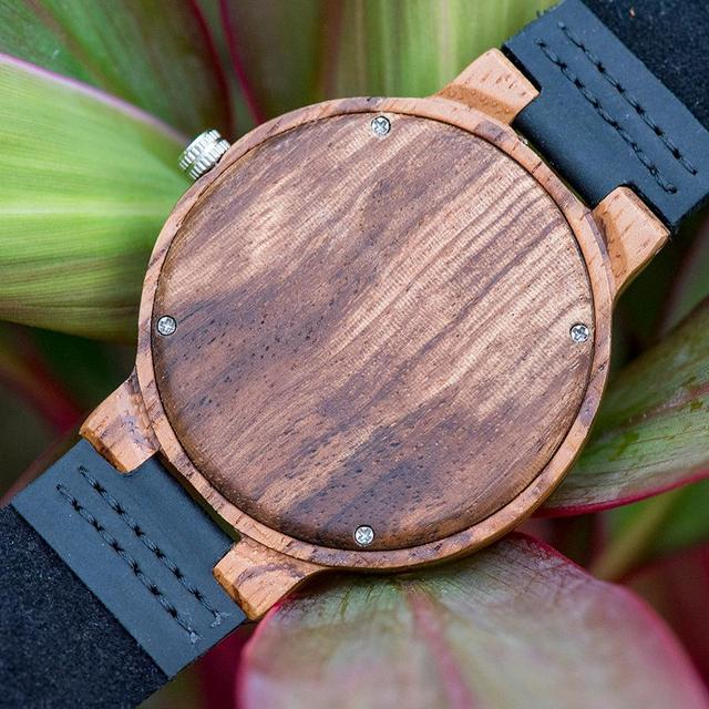 Relogio Masculino BOBO BIRD Wood Watch Men Top Brand Timepieces Leather Strap Clock Great Wrist Watches for Man reloj hombre