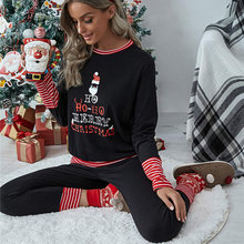 2021 Рождественская Пижама рождественские комплекты из двух