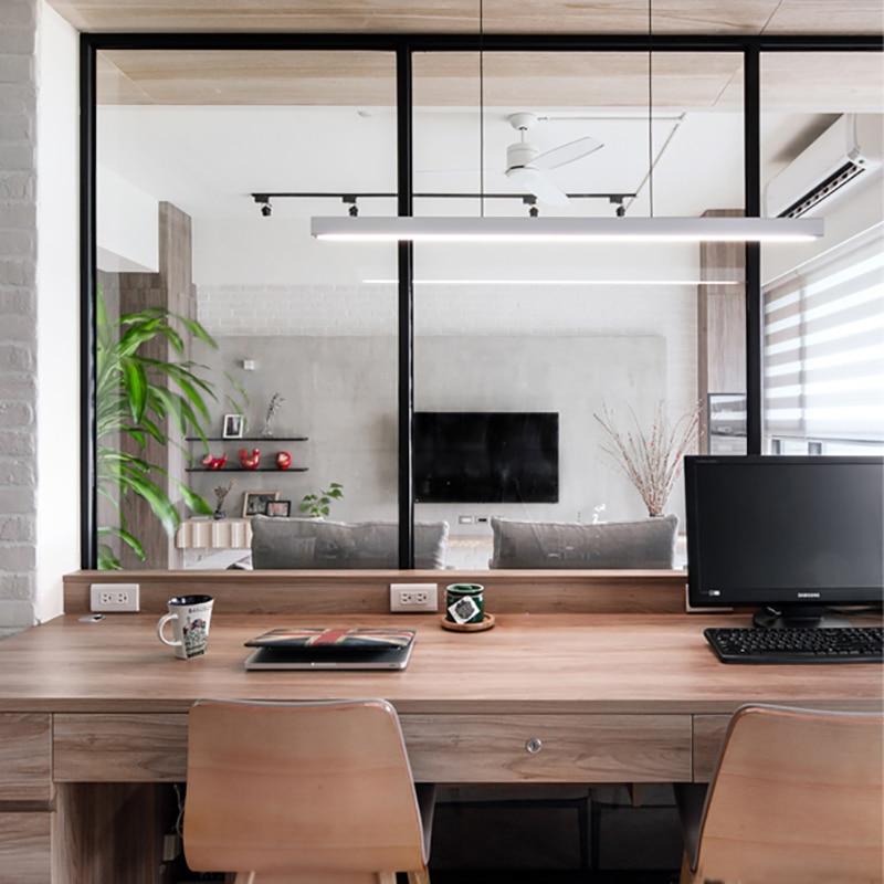Nordic Designer Art Woodden White Modern Office Study Pendant Iights Aluminum Simple Hanging Lamp Restaurant Kitchen Lamp Lustre
