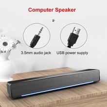 SADA V-196 USB Powerful Computer Speaker Audio 3D Stereo Speaker Soundbar Loudspeaker  for PC Laptop phone Tablet