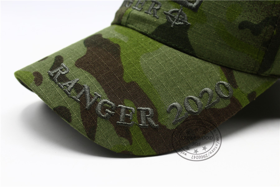 CAPSHOP MultiCam Sniper Ranger 2020 Embroidered Ball Cap Military Army Operator hat Tactical CP OD Cap with Loop for Patch 13