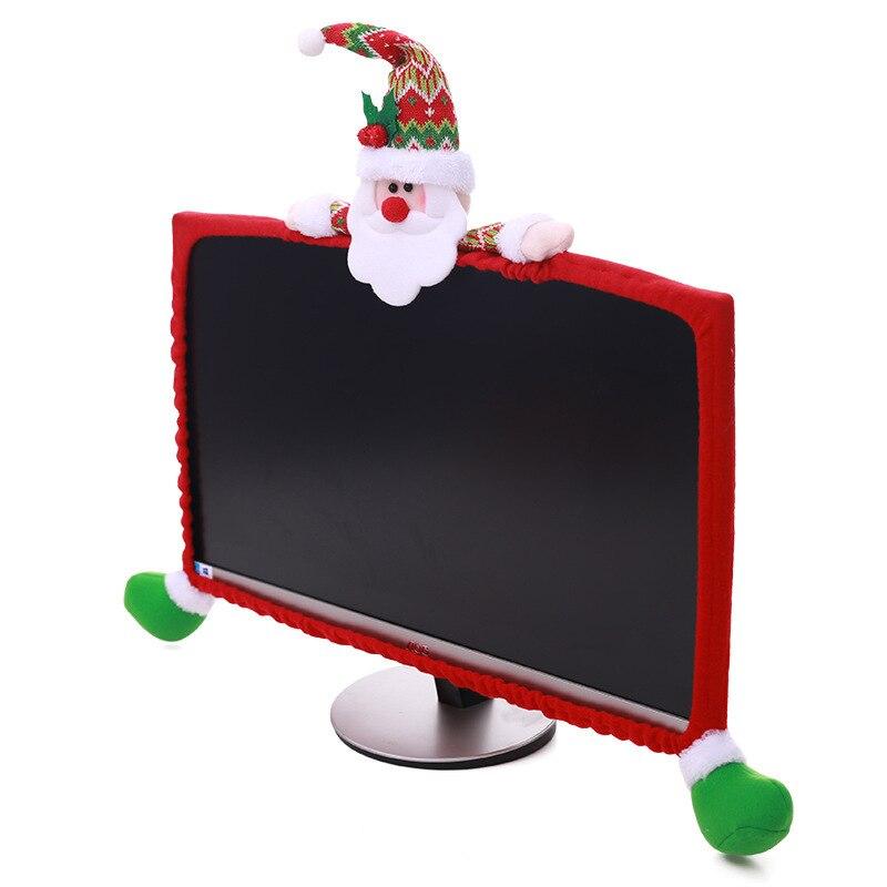 Creative cartoon handmade flannelette Santa Claus snowman elk Christmas computer display decoration decoration