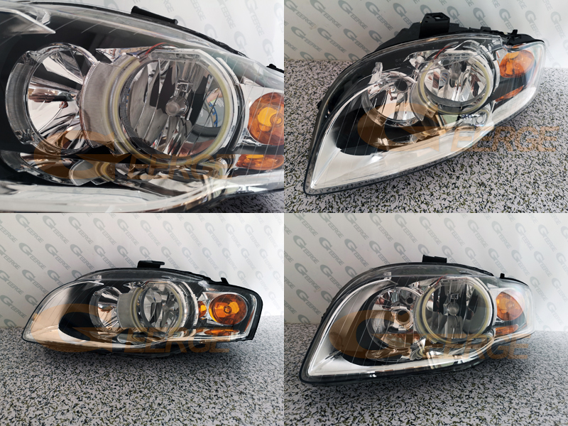 2pc Carbon Fiber Headlight Eyebrow Decorative Cover For Audi Q7 2007-2009