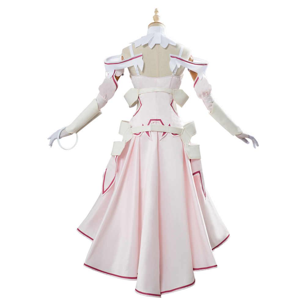 剣アートオンライン SAO Alicization 結城アスナコスプレ衣装ドレスハロウィンカーニバル女性女の子