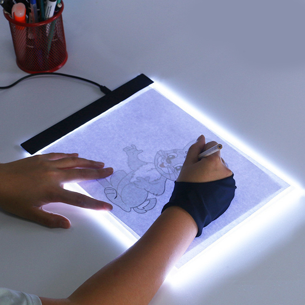 A4 Digital Graphics Tablet Writing Painting Table Panel For Drawing Pad LED Light Box Art Copy Board Electronic USB