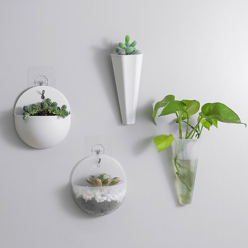 Decorative Plastic Hanging Planters Pot New Fashion Wall Mounted Flowers Planter Garden Indoor Wall Decor For Succulent Plants