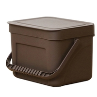Waste Bin Office Kitchen Bathroom Dustbin with Save Space For Home Wall Mounted Trash Can Dual Use Storage Box Brown S|Waste Bins| |  -