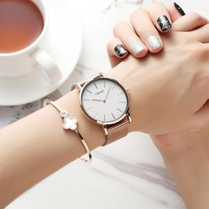 Image 2 - Women Watches Top Brand Luxury Japan Quartz Movement Stainless Steel Rose Gold Dial Waterproof Wristwatches relogio feminino