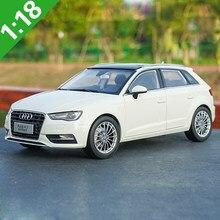 Caixa original 1:18 audi a3 sportback liga modelo carro estático metal modelo veículos