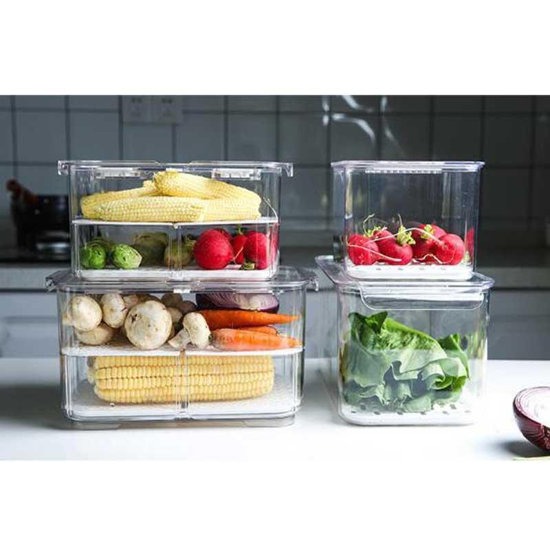냉장고 보관 상자 냉장고 누수 상자 얼음 상자 주최자 pe 컨테이너