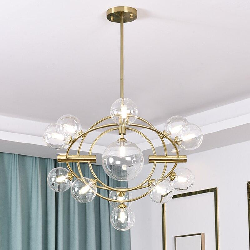 Nordic Luminaire Suspendu Lampen Industrieel Crystal Bedroom  Living Room  Industrial Lamp