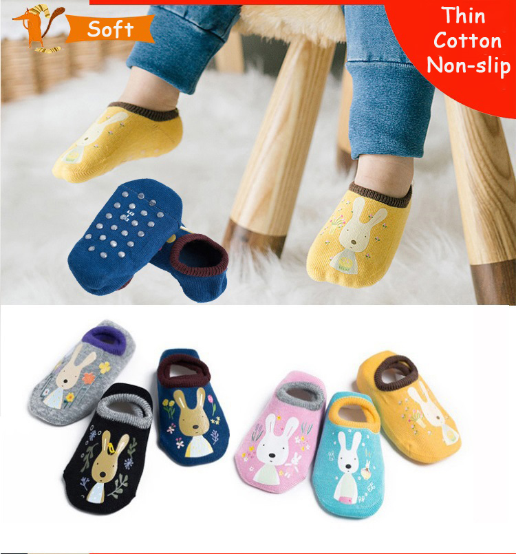 Baby  Floor Socks Baby Non-slip Floor Socks Cartoon Socks Children Cotton Floor Socks Anti-Slip Baby Step Socks