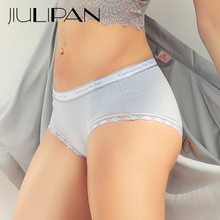 JIULIPAN cotton antibacterial middle waist lace Panties women students no trace triangle summer thin section breathable