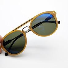 Acetate Sunglasses Classical Brand Designer Gregory Peck Vintage Men Round Sun G
