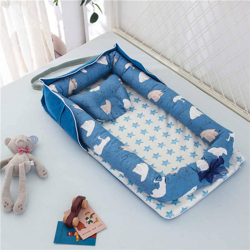 22 Colors Portable Baby Nest Bed With Pillow Cushion Newborn Travel Bed For Outdoor Bed Infant Crib Nest