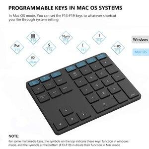 Image 3 - Avatto アルミ合金 35 キー bluetooth ワイヤレステンキー、デジタルキーボード windows 、 ios 、 mac os 、アンドロイドタブレットノート pc