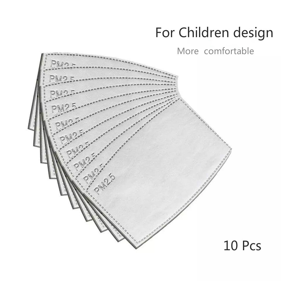 10 шт./лот PM2.5 фильтровальная бумага анти-дымка маска для рта Пылезащитная маска фильтровальная бумага забота о здоровье для детей дизайн