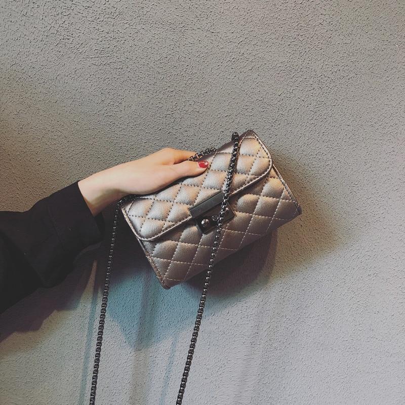 Bolso de hombro para mujer 2019 bolso de mensajero de moda para mujer bolso bandolera de cuero pu para mujer bolso negro de compras para niña