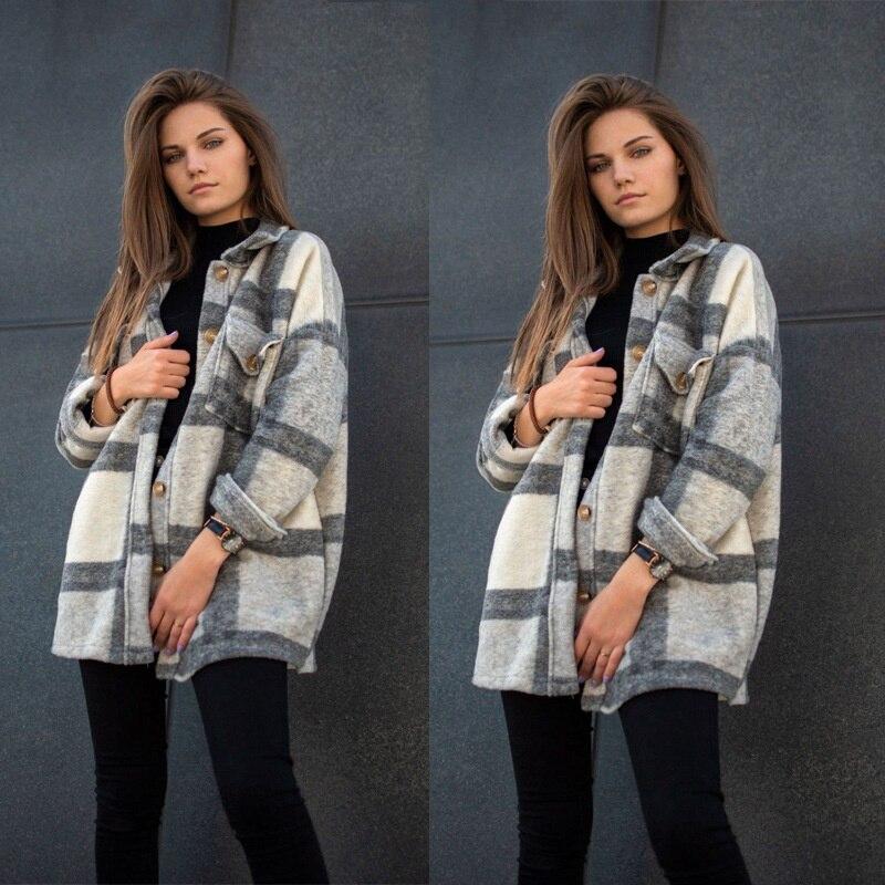 Fall Long Sleeve Loose Women's Coat Fall Outfit 2021 2