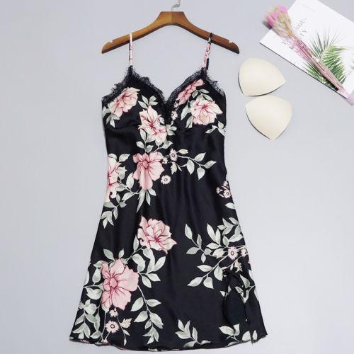 Sexy Lingerie Sleepwear Lace Women's G-string Dress Lace Sling Floral Print Babydoll Nightwear Plus Size Backless Sleepshirts