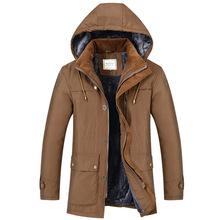 Men Winter Jacket large size Thick Warm Parka Fleece Fur Hooded Military Jacket Coat Pockets Windbreaker bomber pilot Jacket Men цена