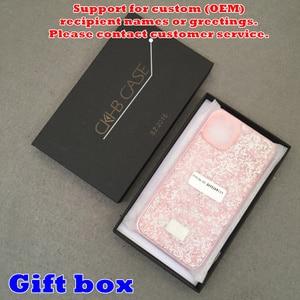Image 5 - Blinking Rhinestone Phone Case For iPhone 11 Pro Max CKHB DD 2 in 1 Diamond Glitter Women Back Case For iphone Xs Max Cases