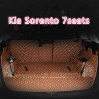 Esteiras do tronco do carro personalizado para kia sorento sportage kx5 kx7 borrego carens k3 k3s k4 k5 k9 tapetes duráveis à prova dk9 água para kia