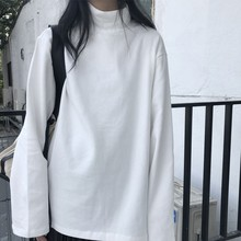 Female Tshirt Ulzzang Jumpers Black Tops Spring Streetwear Loose Gothic Harajuku Girls
