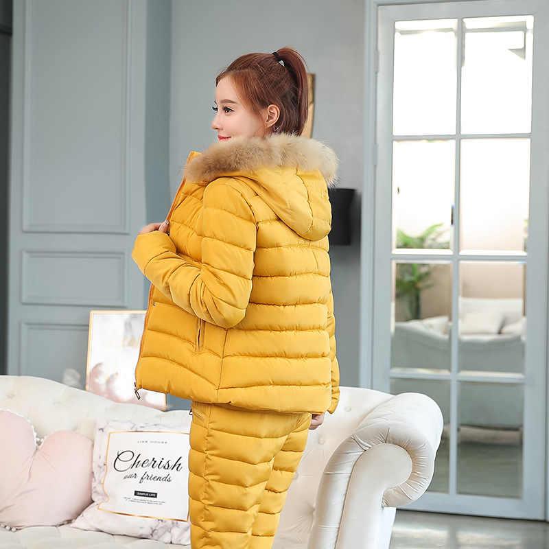 2019 新冬のジャケットの女性ブラックフェイクファーフード付きパーカーコート女性長袖厚手暖かい雪の摩耗ジャケットコート TopsTwo のベビーベッド
