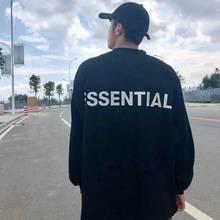 2020 new long-sleeved T-shirt 3M reflexivo camisa assentamento de alta rua solta T-shirt da forma T-shirt de algodão puro