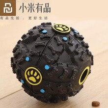 Youpin pelota interactiva de elasticidad para masticar juguetes para perros, bola limpia los dientes del perro, dispensador de alimentos, bolas de goma Extra resistentes