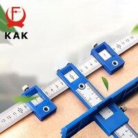KAK-localizador de agujeros desmontable, guía de taladro ajustable, carpintería, armario de herramientas, Hardware, plantilla, cajón para herramientas, localizador de mango