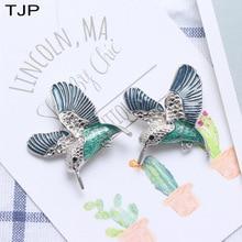 TJP Korean Version Fashion Bird Brooch Drip Gel Dysplinding Alloy Clothing Brooches For Women