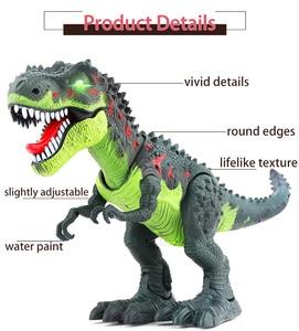 Image 2 - Jurassic parque grande dinossauro eletrônico brinquedos modelo para a criança brinquedo de som para o menino animal ovo ação jogar figura uma peça casa deco