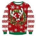 Camisola de natal feio impressão 3d engraçado natal pulôver hoodie moletom masculino feminino festa de férias outono camisola masculina