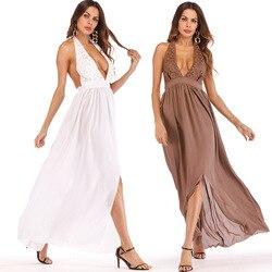 2018 женское платье в европейском и американском стиле Aliexpress Amazon, международная торговля, Новые товары, кружевное шифоновое платье с открытой...