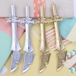 2 PCS Gel Pen Novelty Knife and Sword Neutral Pens 0.38mm Kawaii Stationery School Writing Office Supplies